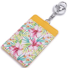 Load image into Gallery viewer, Card Case April Watercolor Hibiscus Yellow - Happy Wahine