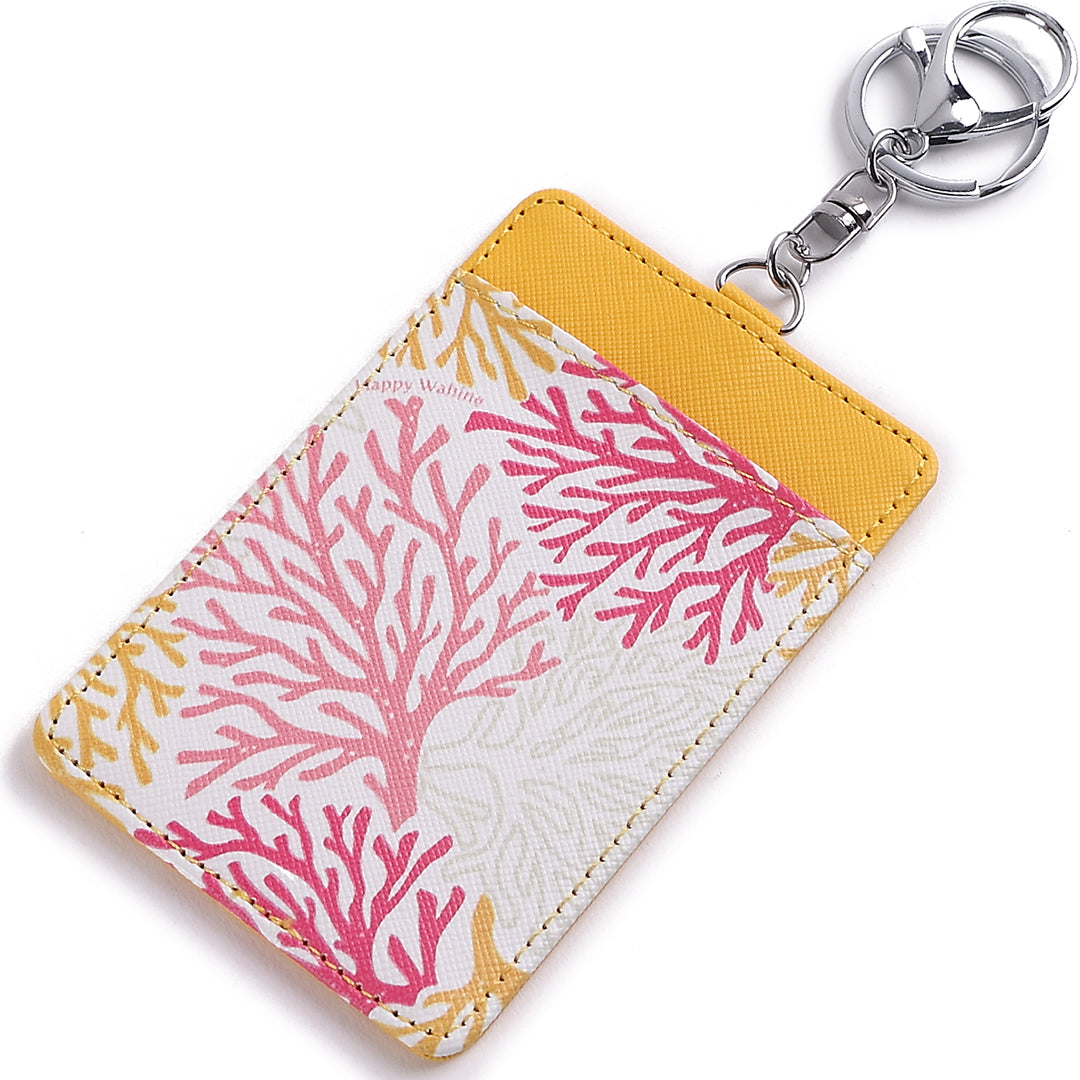 Card Case April Coral Yellow