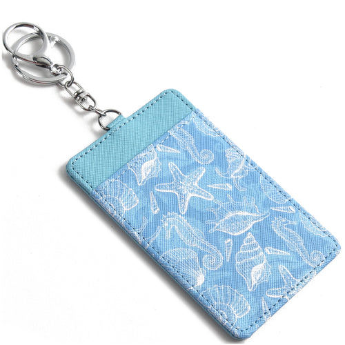 Card Case April Seahorse Shell Blue - Happy Wahine