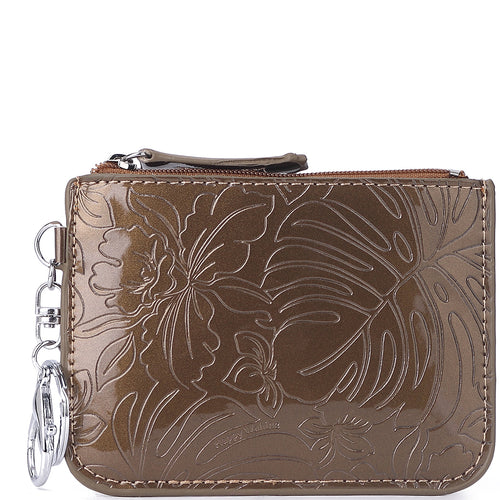 Card Case May Monstera Orchid Brown - Happy Wahine
