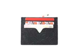 Card Case Meilany Tapa Tiare Embossed Black