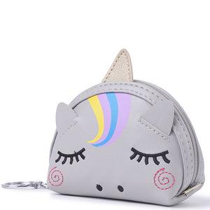 Charm Davine Coin Case Unicorn Grey