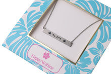 Load image into Gallery viewer, Necklace Aloha Bar Silver