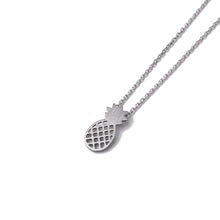 Load image into Gallery viewer, Necklace Aloha Pineapple Puka Silver