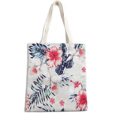 Load image into Gallery viewer, Cotton Tote Large Everyday Hawaii Hibiscus Beige