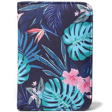 Load image into Gallery viewer, Passport Case Everyday Hawaii Monstera Navy