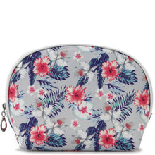 Load image into Gallery viewer, Pouch Round Everyday Hawaii Hibiscus Grey