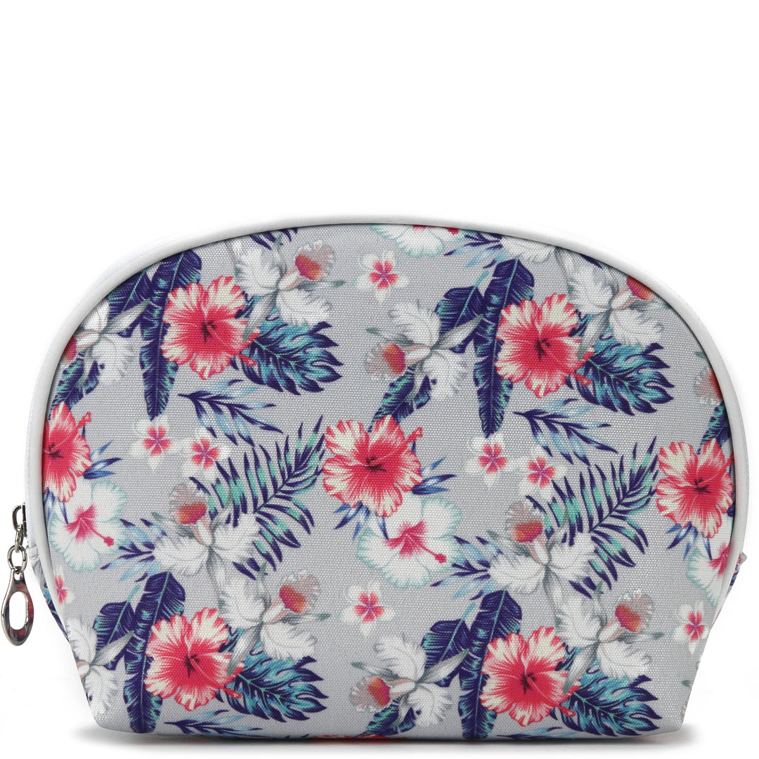 Pouch Round Everyday Hawaii Hibiscus Grey