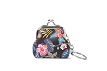 Load image into Gallery viewer, Coin Purse Small Everyday Hawaii Monstera Black