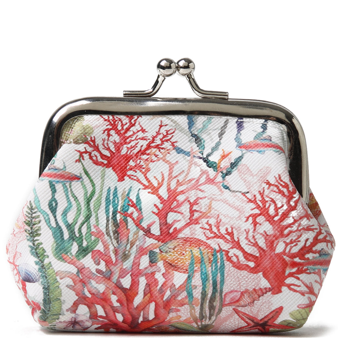 Coin Purse Large Everyday Hawaii Coral Beige