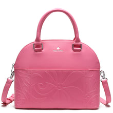Load image into Gallery viewer, Satchel Kristen Tapa Tiare Embossed Pink