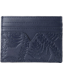 Load image into Gallery viewer, Card Case Meilany Fern Lei Embossed Navy