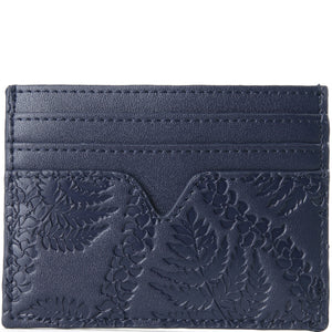 Card Case Meilany Fern Lei Embossed Navy