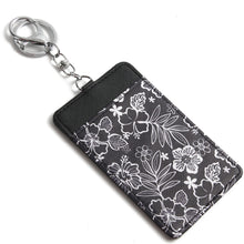 Load image into Gallery viewer, Card Case April Hibiscus Blossom Black