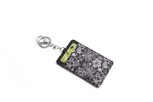 Card Case April Hibiscus Blossom Black