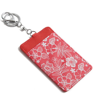 Card Case April Hibiscus Blossom Red