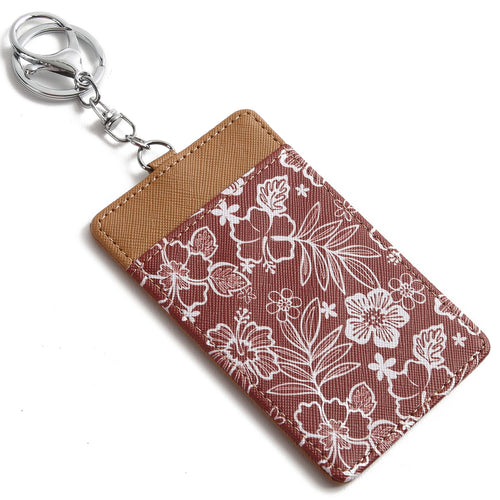 Card Case April Hibiscus Blossom Brown - Happy Wahine