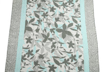 Load image into Gallery viewer, Scarf Danielle Print Leaves Teal - Happy Wahine