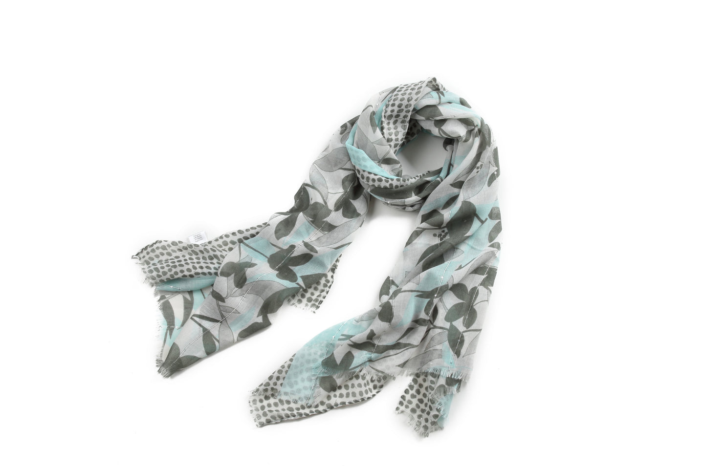 Scarf Danielle Print Leaves Teal