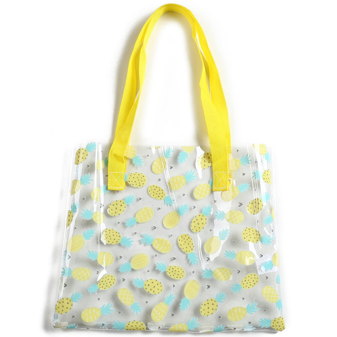 Clear Tote Everyday Hawaii Pineapple Yellow - Happy Wahine