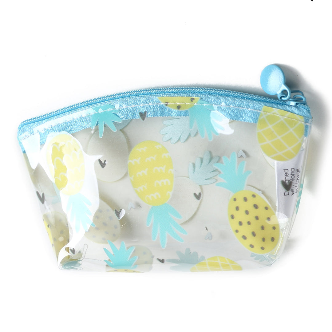 Clear Coin Case Everyday Hawaii Pineapple Yellow