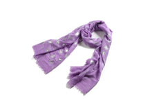 Load image into Gallery viewer, Scarf Danielle Silver Dandelion Purple