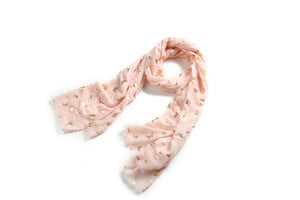 Scarf Danielle Gold Butterfly Blush - Happy Wahine