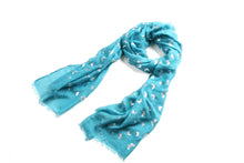Load image into Gallery viewer, Scarf Danielle Silver Butterfly Turquoise - Happy Wahine