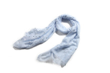Load image into Gallery viewer, Scarf Danielle Silver Anchor Blue - Happy Wahine