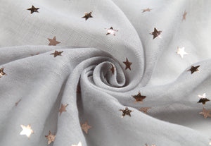 Scarf Danielle Rose Gold Stars Grey