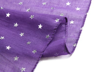 Load image into Gallery viewer, Scarf Danielle Silver Stars Purple