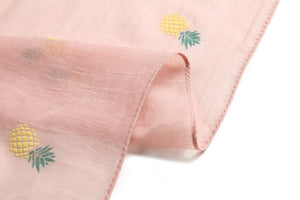 Scarf Danielle Textured Pineapple Pink