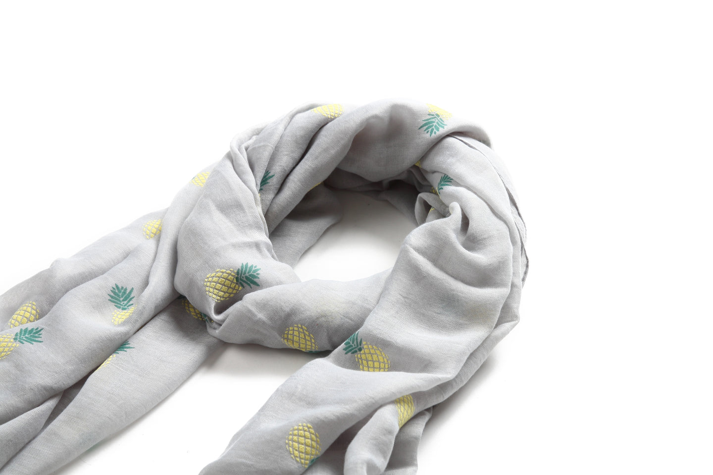 Scarf Danielle Textured Pineapple Grey - Happy Wahine