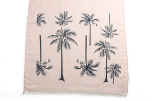 Scarf Danielle Print Palm Tree Pink - Happy Wahine