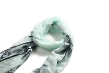 Load image into Gallery viewer, Scarf Danielle Print Palm Tree Mint