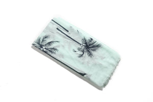 Scarf Danielle Print Palm Tree Mint