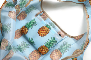 Foldable Bag Jackie Pineapple Sky Blue