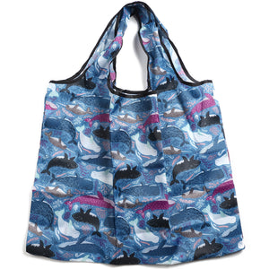Foldable Bag Jackie Whales Blue
