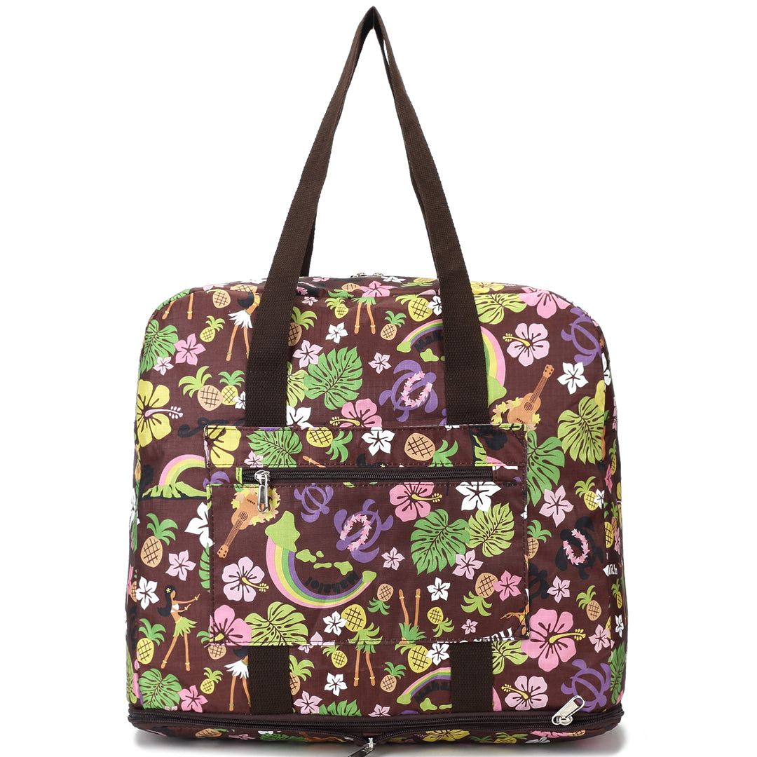 Foldable Duffle Bag Sophie Rainbow Brown