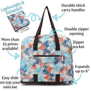 Foldable Duffle Bag Sophie Coconut Dark Blue