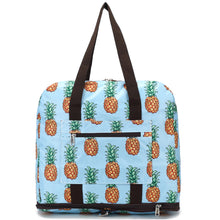 Load image into Gallery viewer, Foldable Duffle Bag Sophie Pineapple Sky Blue
