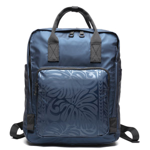 Backpack Square Ho'omau Monstera Blue