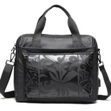 Load image into Gallery viewer, Work Bag Ho'omau Tapa Tiare Black