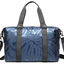 Load image into Gallery viewer, Duffle Medium Ho'omau Monstera Blue