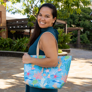 Reversible Tote Nancy Large Mermaid Blue