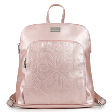 Load image into Gallery viewer, Backpack Sasha Tapa Tiare Embossed Pink