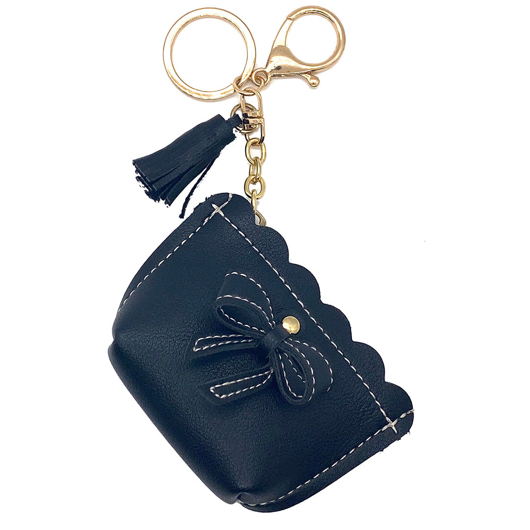 Charm Ariel Purse Bow Black