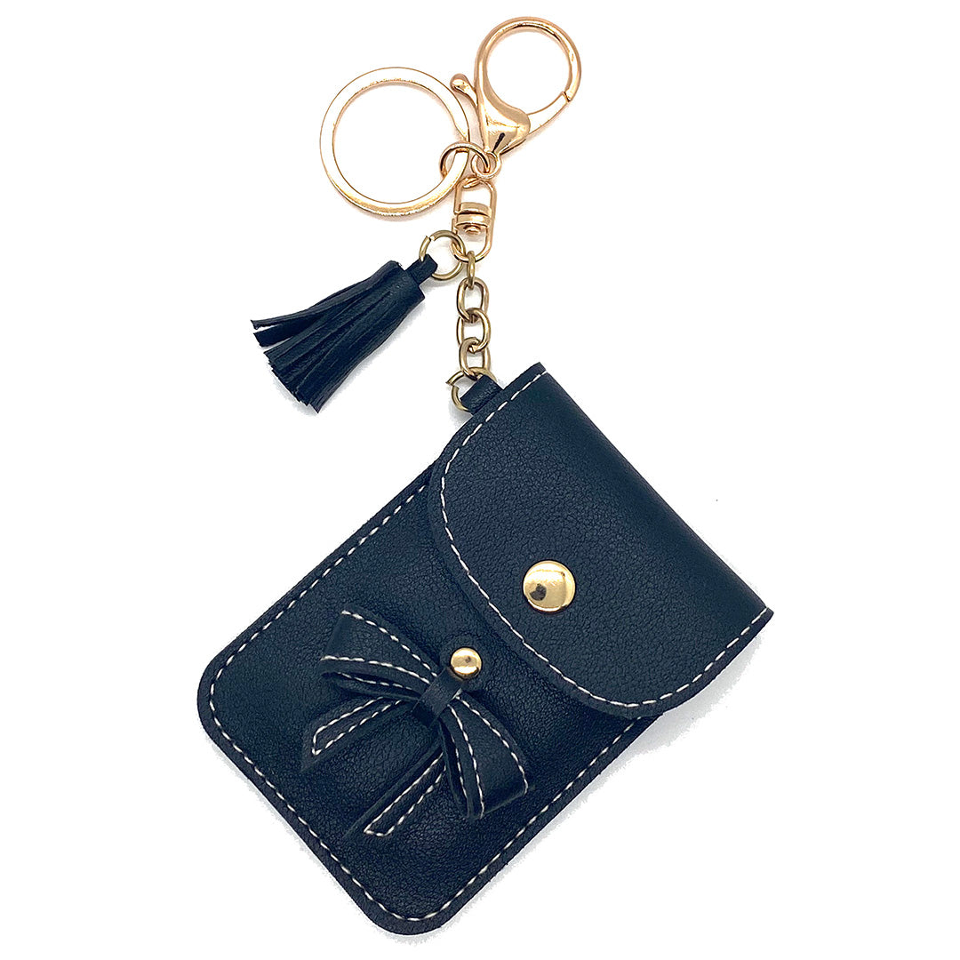 Charm Ariel Mini Purse Bow Black