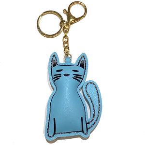 Charm Plush Cat Long Blue