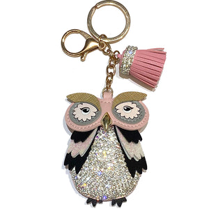 Charm Owl Sparkle Pink